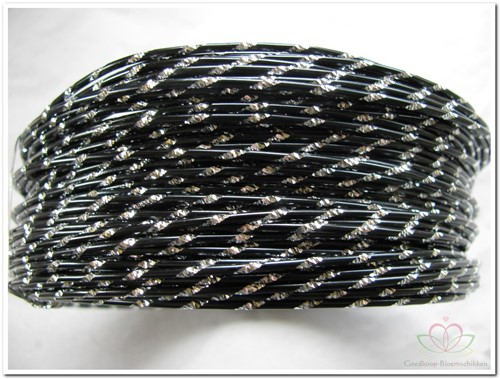 Oasis Diamond Sensation Wire - 40-10106 zwart Aludraad met di