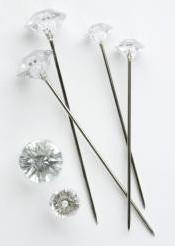 Oasis Diamant Pins Clear10 mm10 stuks Oasis® Diamant