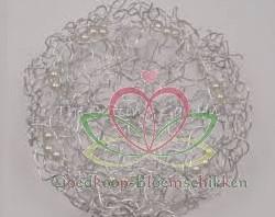 Oasis Wire and Pearl Collar, Parelweb ZILVER Parelnet 20 cm.