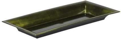 Onderbord Donkergroen 28-12*3 cm. rechthoek darkgreen Plate