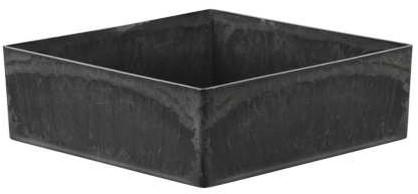 Onderbord Loodlook vierkant 20*20*6 cm.   Onderbord Basic Grey bODY