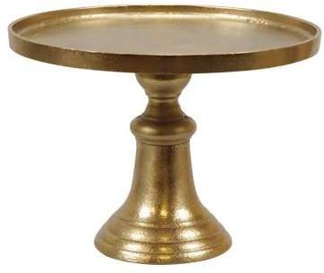 Etagère Goud tafeldecoratie Ø27x20cm Cake stand 1 rough gold plated etagère
