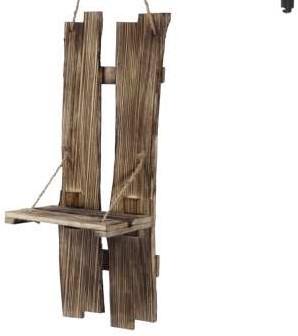 Robuust houten wanddecohanger 55x19.5cm Workshopitem