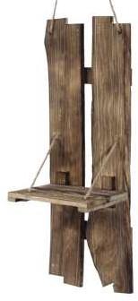 Robuust houten wanddecohanger 67.5x25cm Workshopitem Grootste