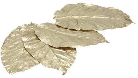 Sal leaves bladeren Goud ±15cm. 20pcs Sal bladeren Full Gold