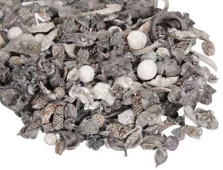 Drooggoedmix ZWARTWIT Natuurlijke materialen Heel veel voor weinig Potpourimix