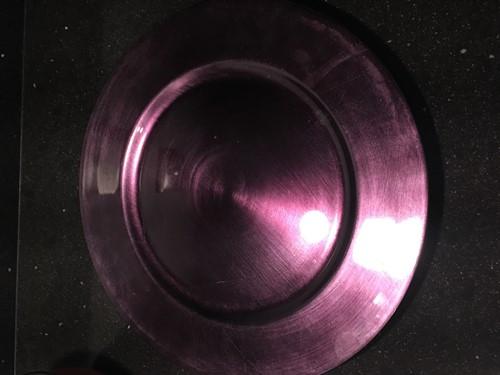 Onderbord Purple 33 cm. rond KORTING zie omschrijving
