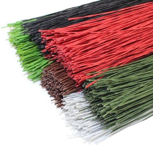 Paper Covered Wire 50 STUKS 0,55mm Mosgroen paper covered wire