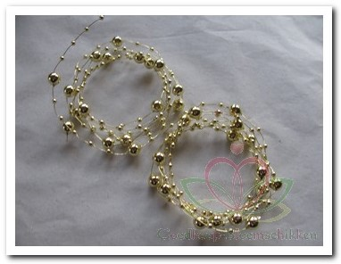 Parelketting wired Goud Gold 2*1, 2m Parelketting