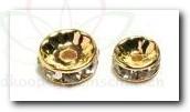 Pin Deco Diamantring 10 mm 12 St. GOUD Pimp de Parel Doosje