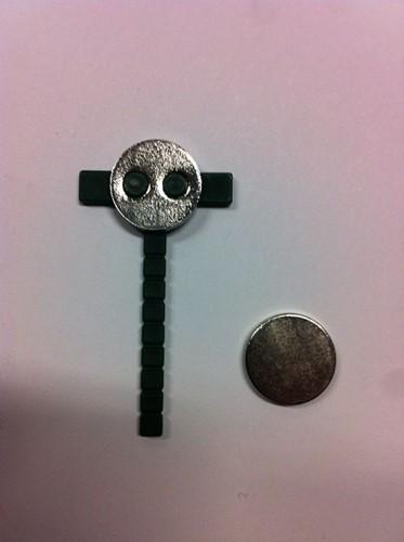 Pinclip Magneet PER STUK voor bruidswerk, corsage Pinclip Magnetic