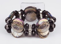 Corsage Polscorsage-armband When in Rome Black Polscorsage