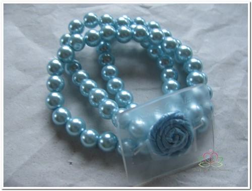 Corsage Polscorsage-armbandAvery Lichtblauw Polscorsage Kle