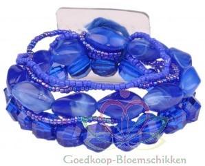 Corsage Polscorsage-armband Potpourri Blue Handmade Corsage Polscor