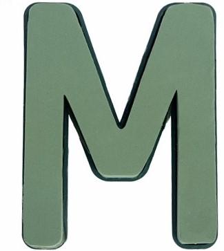 Letter M van Steekschuim met bodem en clip Premier Premier FLORAL FOAM PLASTIC BACKED CLIP ON