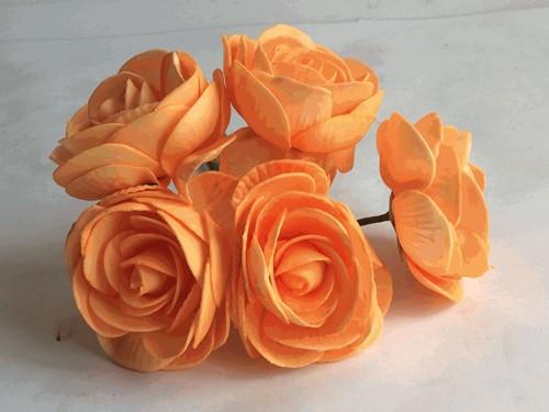 Camelia Ranonkel foambloem Orange Neon DOOS 30st Ranonkel foambloemen