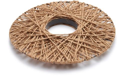 Krans plat frame Rope wreath flat 50cm plat frame omwikkeld met touw