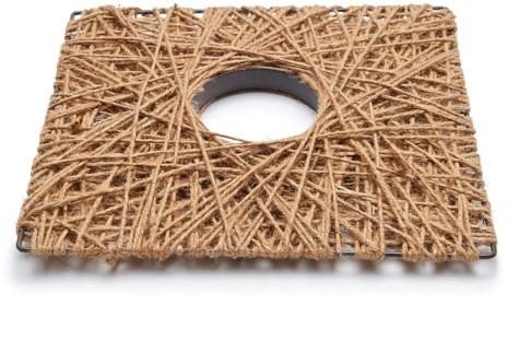 Plat Vierkant frame plat Rope square wreath flat 50cm plat frame omwikkeld met touw