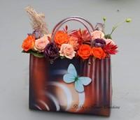Bloementasje p tassen 180x230x80 vlinder pp tassen 180x230x80