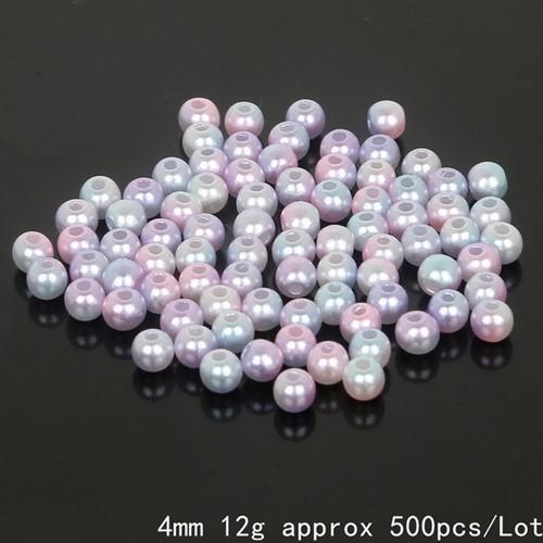 aParels pareltjes Rijgparels Rainbow 4 mm +/-500 stuks.  aParels Rijgparel