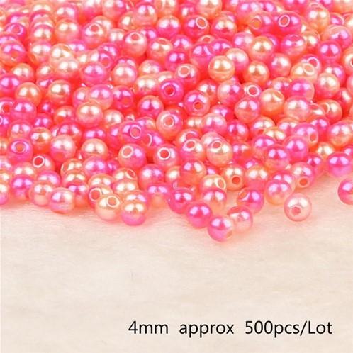 aParels pareltjes Rijgparels Rainbow 4mm +/-500 stuks.  aParels Rijgparel