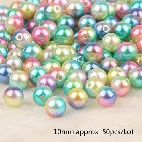 aParels pareltjes Rijgparels Rainbow 10 mm +/-50 stuks.  aParels Rijgparel