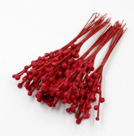 Foamstem foamtakje 15 cm bundel 10st Rood Red voor corsages en inpakken