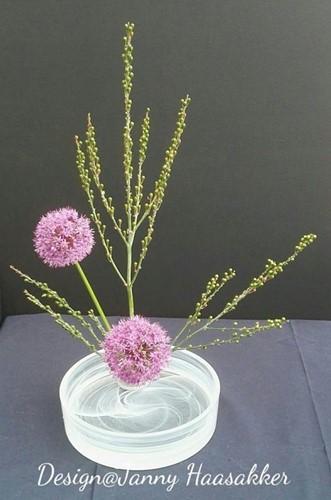 Schaal Bowl Bicolor voor Ikebana +/- 22cm. zonder Kenzan
