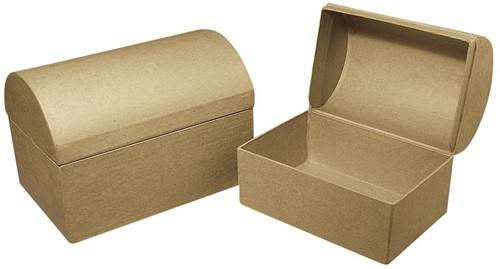 Schatkist Papiermaché 15x10x10, 5cm. Per Stuk Schatkist