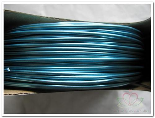 ALU-DRAAD 2MMX60MTR. 500gram. TURQUOISE Aluminiumdraad 500