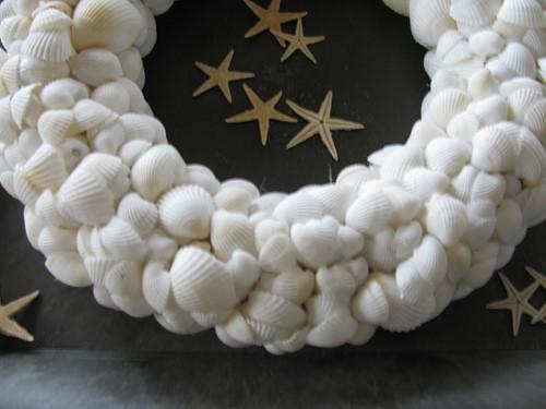 Pakket: DIY Schelpenkrans wit voor een mediumkrans 25 cm