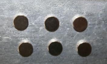 Setje van 6 magneten 12*3mm Corsagemagneten