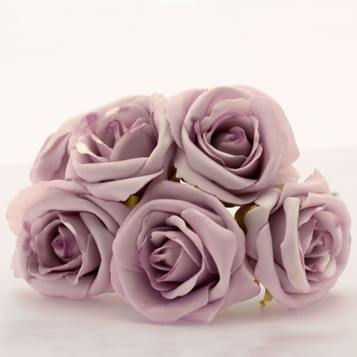 Foam Roos 7cm Georgia Foam Rose x6 Lilac Foamroos