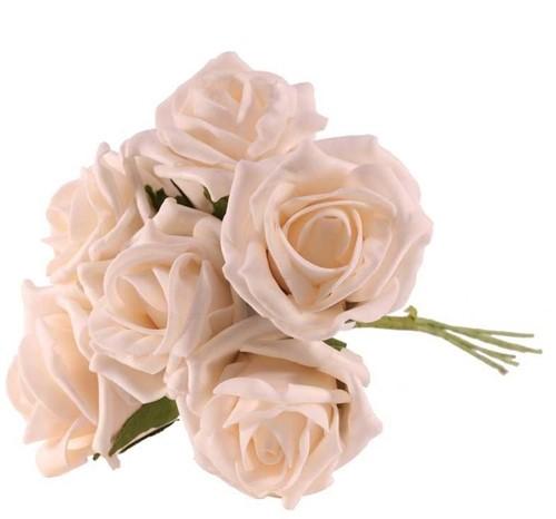 Foam Roos Tea Rose X6 Ivory Foamroos