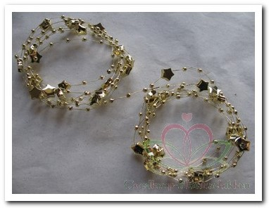 Ster parelketting wired goud 2 * 1, 20m Ster ketting