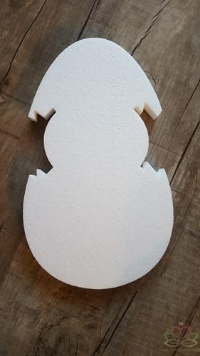 Styropor Ei met kuiken Groot Piepschuim 40*3cm. Workshopitem