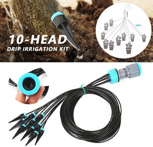 Verstelbaar druppelwatersysteem voor planten, 10 stuks  direct op slang of kraan