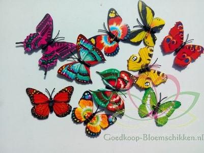 Vlinders 3D van Pvc 5 cm. 10 stuks gem Vlinders voor Corsage