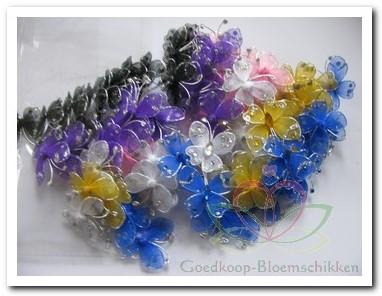 Vlindertjes mix 3. 5 cm. +/- 90 stuks Vlindertjes mix 3. 5 cm.