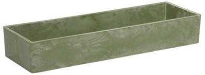 Tafeldeco Rectangle Poeder Groen 32x10. 5x5cm. /st Tafeldeco