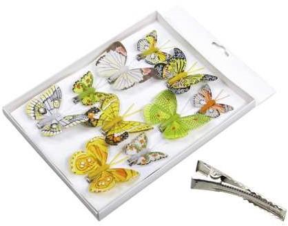 Vlinders Frisse tinten Groen 5-8 cm. Pak 10 st Vlinder