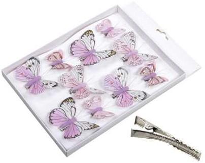 Vlinders Frisse tinten Rozepink 5-8 cm. Pak 10 st Vlinder Vlinders