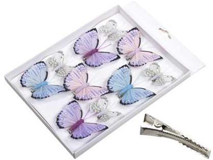 Vlinders Frisse tinten Lilablauw 5-8 cm. Pak 10 st Vlinder Vlinders