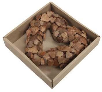 Hart open Cocohartjes naturel 30 cm. Kant en klaar