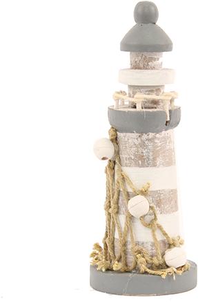 Maritiem Vuurtoren met decoratie 12, 5cm. Vuurtoren met decoratie