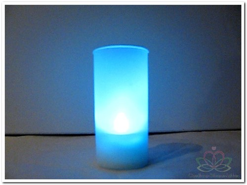 Windlichtje met LED laarsje- Met filmpje