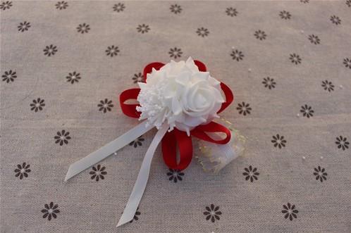 Actie Polscorsage elastisch White Red/ Wit Rood Polscorsage KLaar