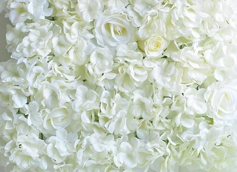 Flowerwall Flower Wall 40*60cm. 3D Wit KANT EN KLAAR! Witte flowerwall