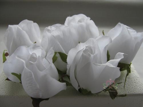 Roosjes 5-6cm. Zijde Best Quality Pure White 10 st Roos zijdebloem
